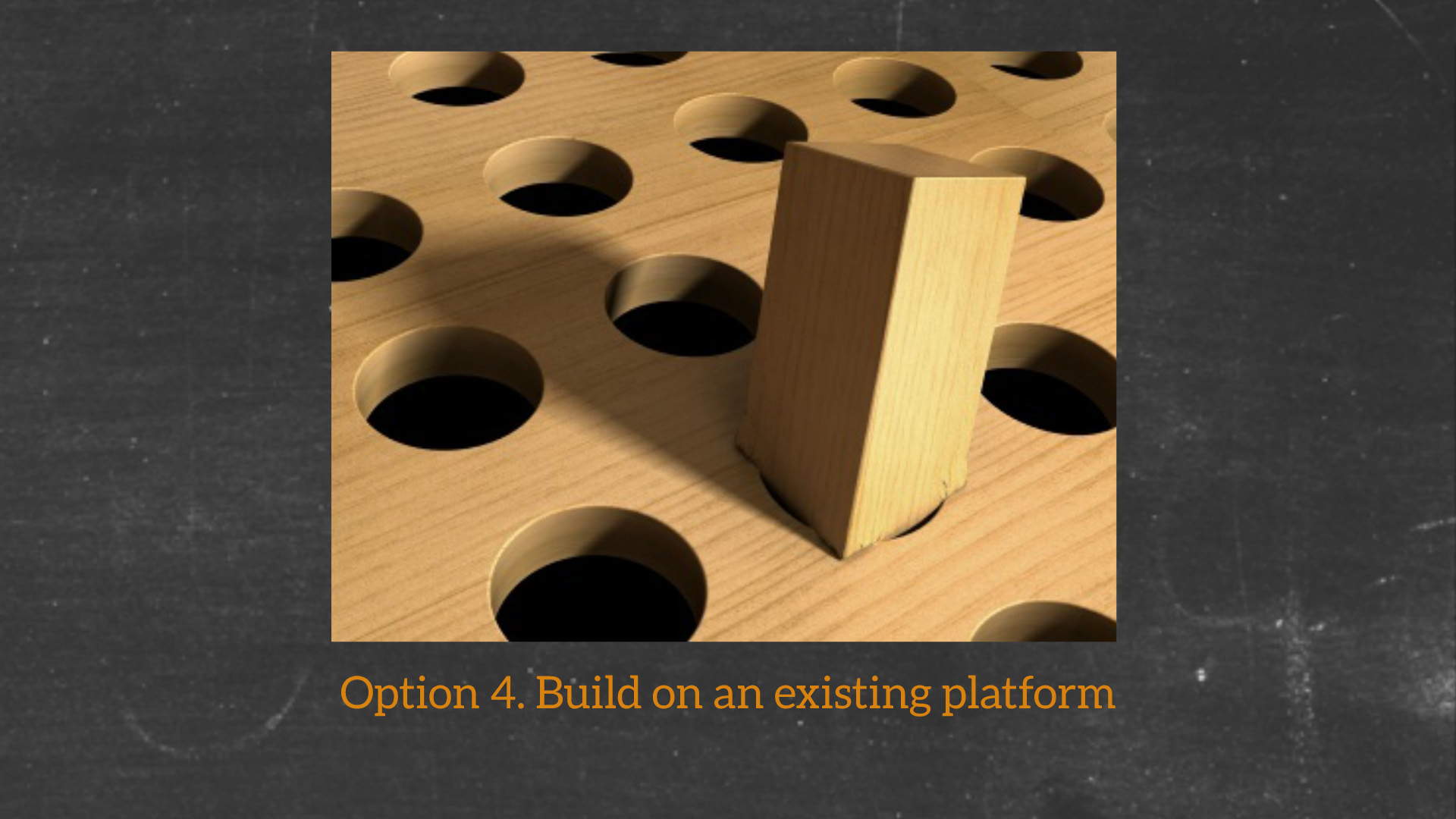 Option 4. Build on an existing platform