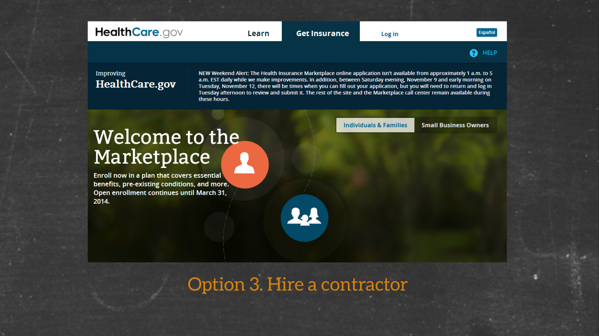 Option 3. Hire a contractor