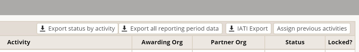 New single reporting period, multiple activity download